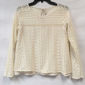 HOLLISTER laced long sleeve top size S